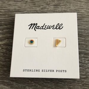 NWT Madewell Delicate Mismatched Stud earrings
